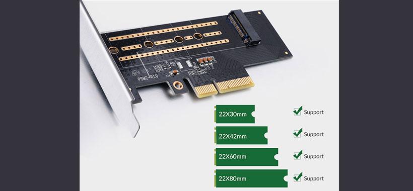 کارت مبدل M.2 NVME به PCI-E اوریکو