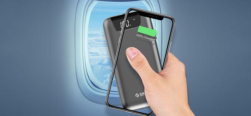 امکان حمل پاوربانک اوریکو به داخل هواپیما