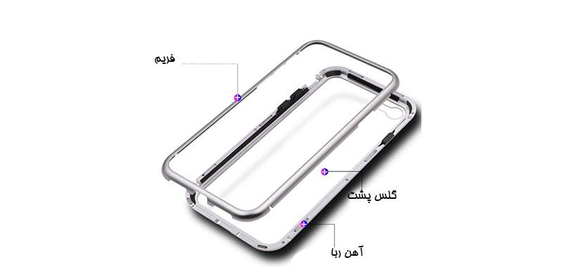 ساختار آهنربایی قاب iPhone 6/6S