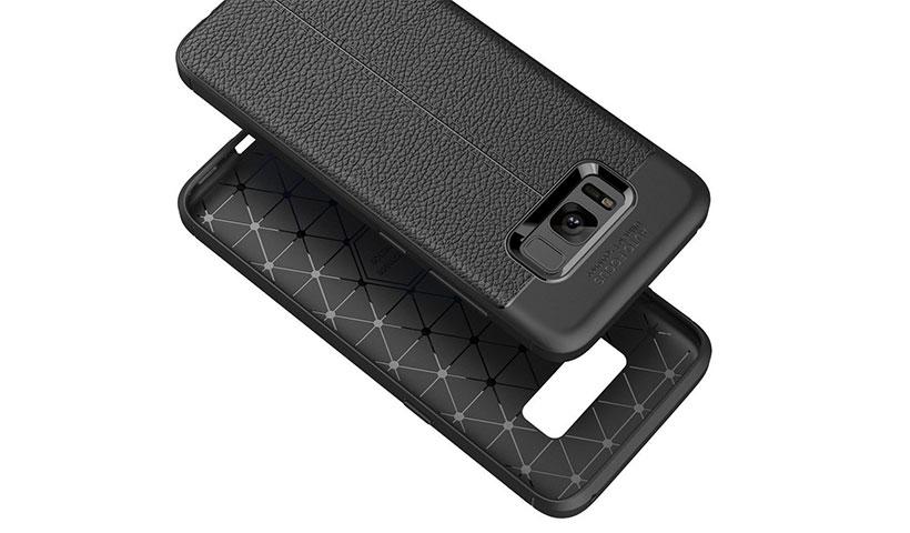 قاب ژله ای طرح چرم سامسونگ S8 Plus