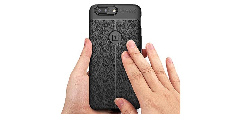 قاب ژله ای طرح چرم OnePlus 5T