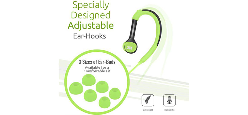 هدفون Promate Natty Universal Sporty Over-the-Ear Gear-Buds