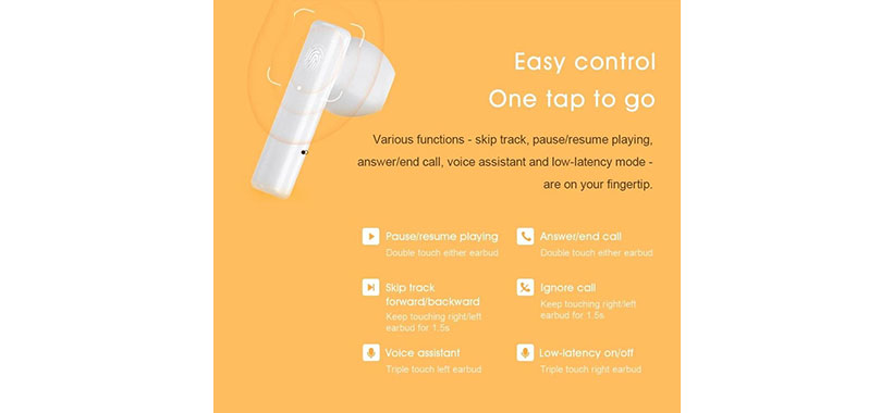 کنترل لمسی qcy t12