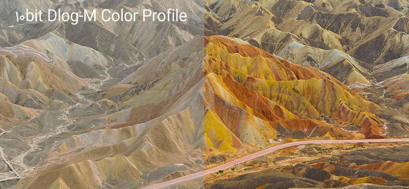 کیفیت رنگ تصویر mavic 2 pro