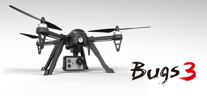 کوادکوپتر MJX Bugs 3 مجهز به مانت مخصوص نصب دوربین