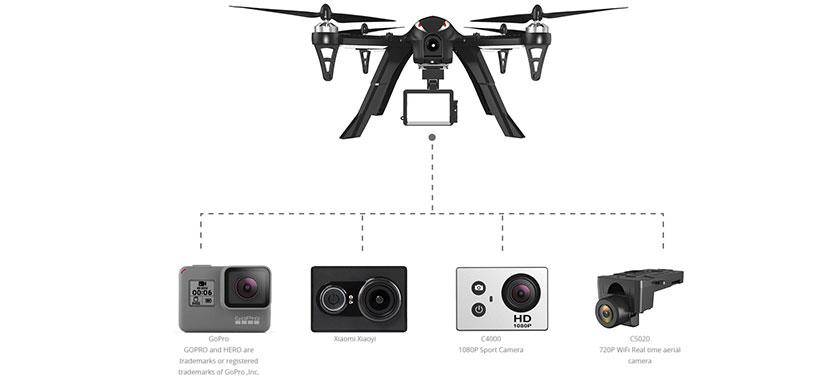 کوادکوپتر باگز 3 با مانت نصب دوربین