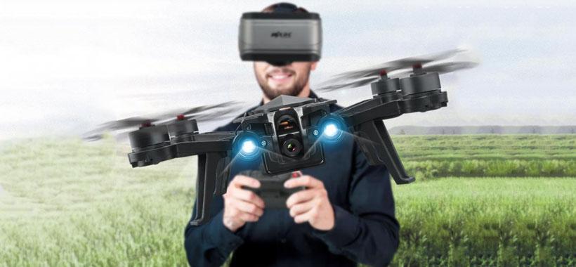 استفاده از عینک واقعیت مجازی کمپانی MJX مدل G3 روی کوادکوپتر باگز 6