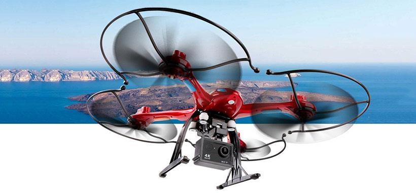 امکان نصب دوربین روی کوادکوپتر x-102h