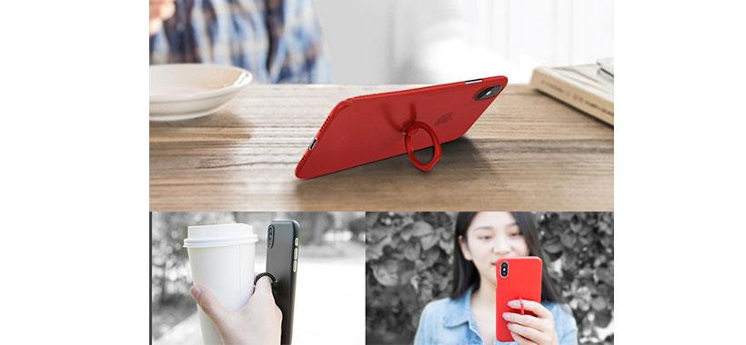 قاب ژله ای حلقه دار راک iPhone X/XS