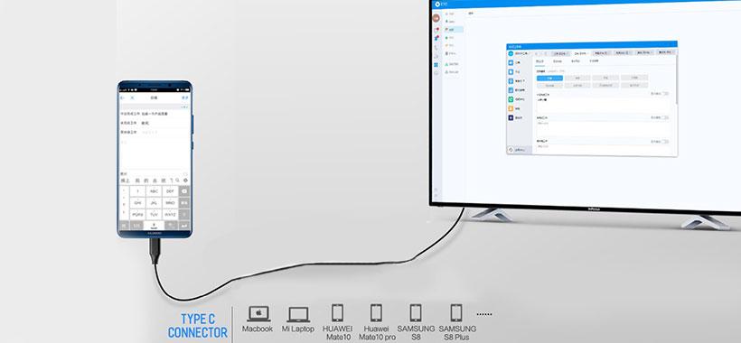 کابل مبدل USB-C به HDMI راک