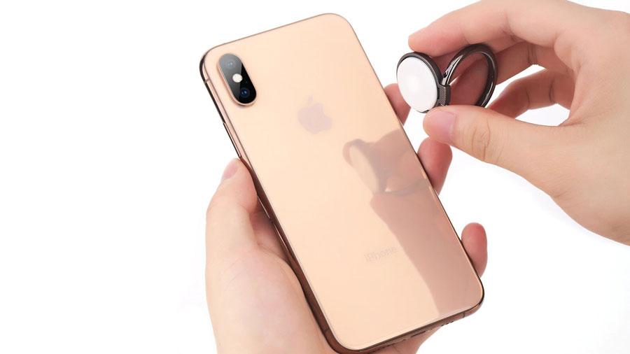 عدم اثرگذاری بر بدنه پشتی موبایل حلقه نگهدارنده موبایل راک مدل RPH0886