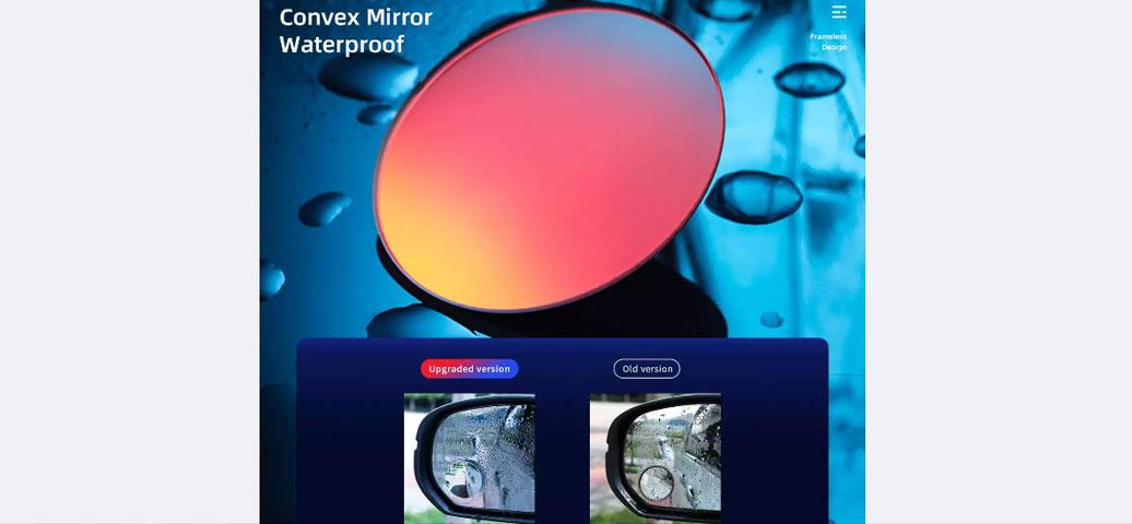 آینه بغل کمکی خودرو راک