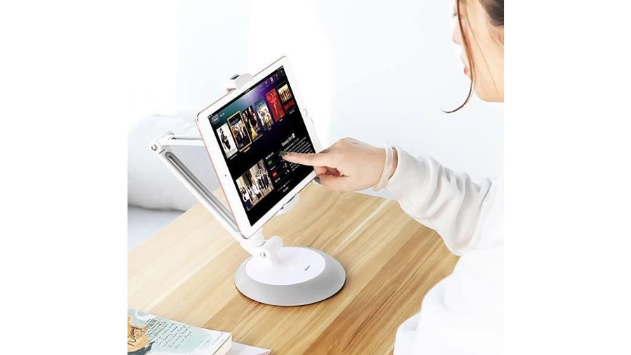 پایه نگهدارنده رو میزی موبایل و تبلت راک مدل Universal Desktop Stand