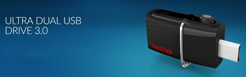 فلش مموری اوتی جی دار سندیسک Ultra Dual USB Drive 3.0 16GB