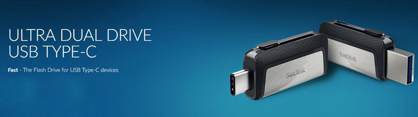 فلش مموری اوتی جی دار سندیسک Ultra Dual USB Type-C 64GB