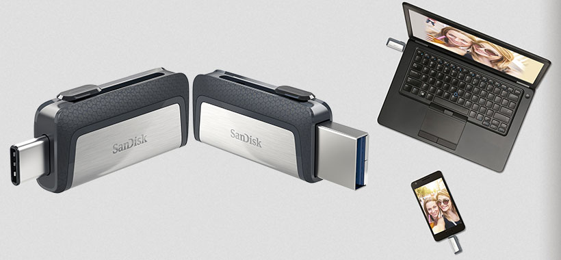فلش SanDisk Ultra Dual USB Type-C 32GB