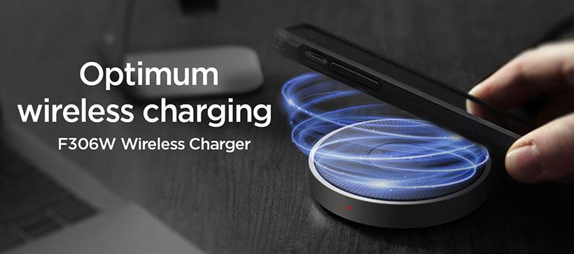 شارژر وایرلس اسپیگن آیفون Spigen Essential® F306W iPhone Wireless Charger