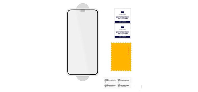اقلام همراه محافظ صفحه شیشهای اسپیگن iPhone X