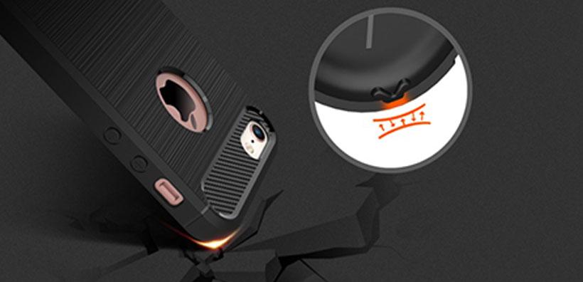 محافظ ژله ای آیفون Carbon Fibre Case Apple iPhone 5/5S/SE