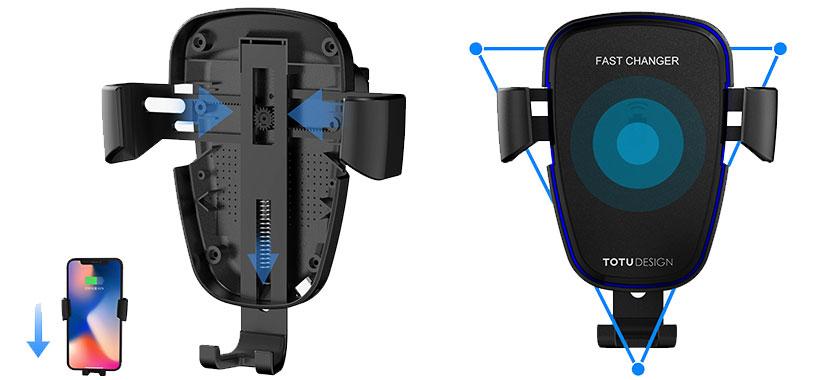 نگهدارنده و شارژر مغناطیسی Totu Design CACW-05