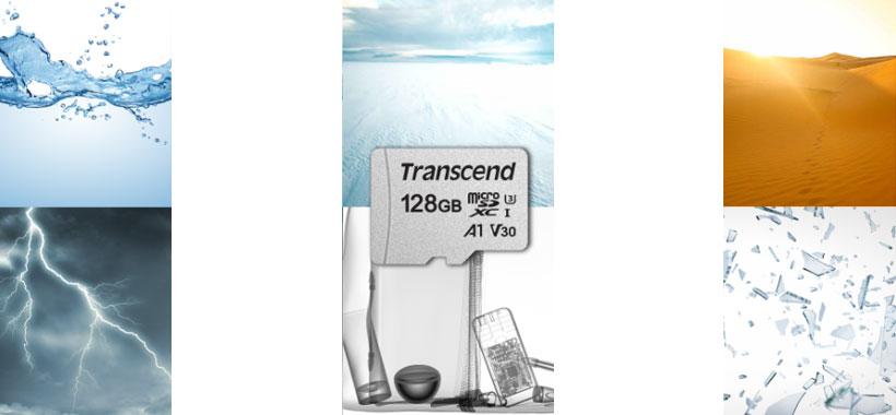 مموری کارت ترنسند microSDXC / SDHC 300S مقاوم در دما و اشعه
