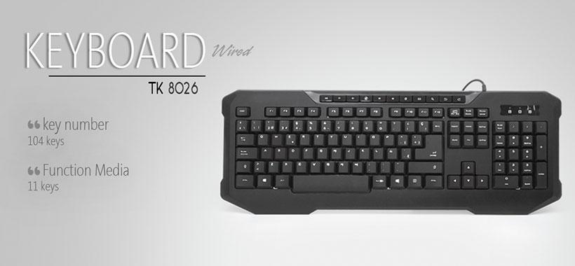 صفحه کلید تسکو TK8026
