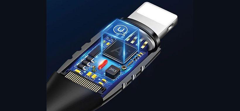کابل لایتنینگ یوسامز مجهز به تراشه IC هوشمند