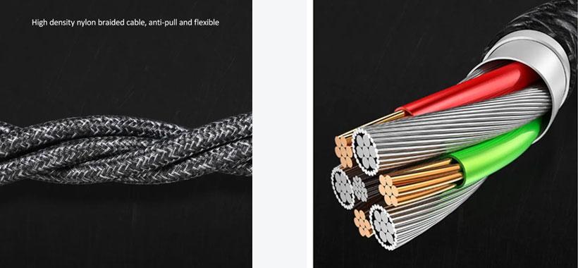 کابل شارژ سریع Type-C یوسامز