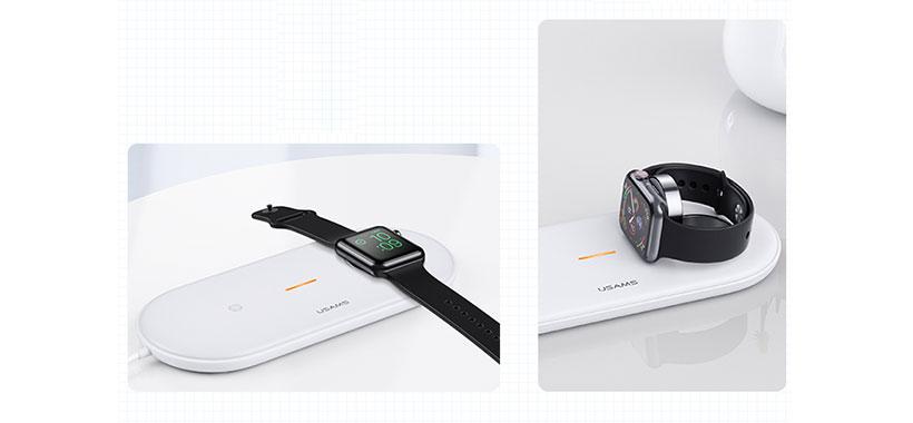 شارژر بی سیم اپل واچ و آیفون و ایرپاد USAMS US-CD119