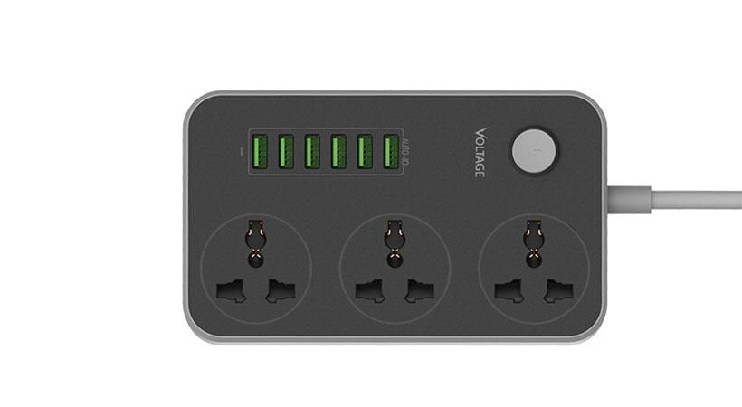 هاب یو اس بی 6 پورت ولتاژ Voltage VPE-U01 6 Port 3.4A Power Socket
