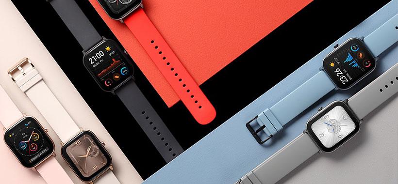 ساعت شیائومی Amazfit gts با بندهای رنگی جذاب