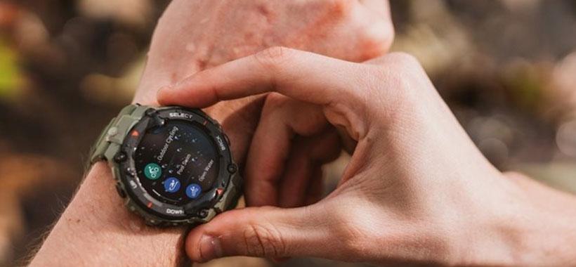 نمایشگر ساعت ورزشی اسپرت Amazfit T-Rex Smart