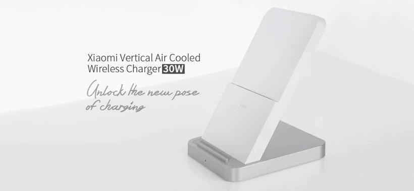 شارژر بی سیم رومیزی شیائومی Vertical Air-Cooled Wireless Charger 30W