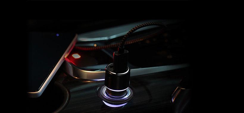 نشانگر LED شارژر فندکی ZMI