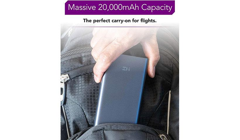 باتری پاور بانک شارژ سریع دو طرفه شیائومی ZMI Aura Fast Charge Digital Display Mobile Power 20000MAh