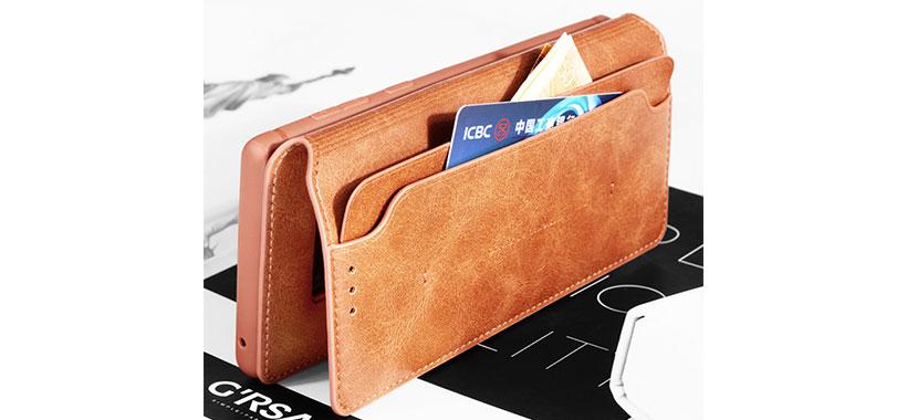نگهداری پول و کارت داخل کاور چرمی S10