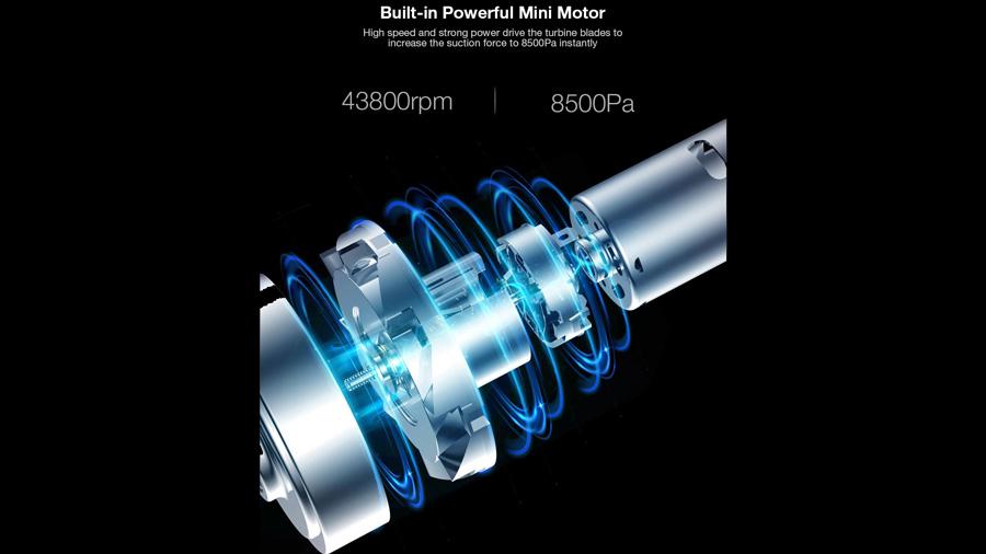 جارو دستی بیسیم دیرما Deerma VC01 Wireless Vacuum Cleaner دارای موتور قدرتمند
