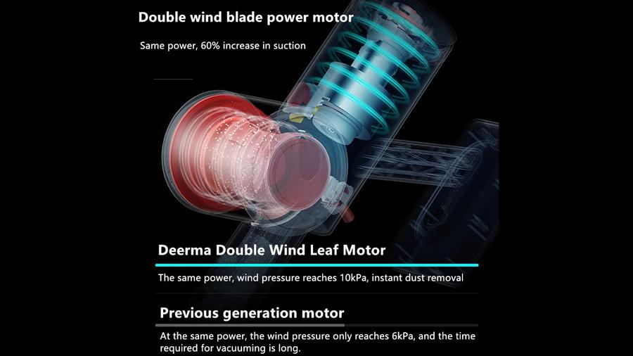 جارو دستی بیسیم دیرما Deerma VC25 Wireless Vacuum Cleaner دارای موتور پرقدرت