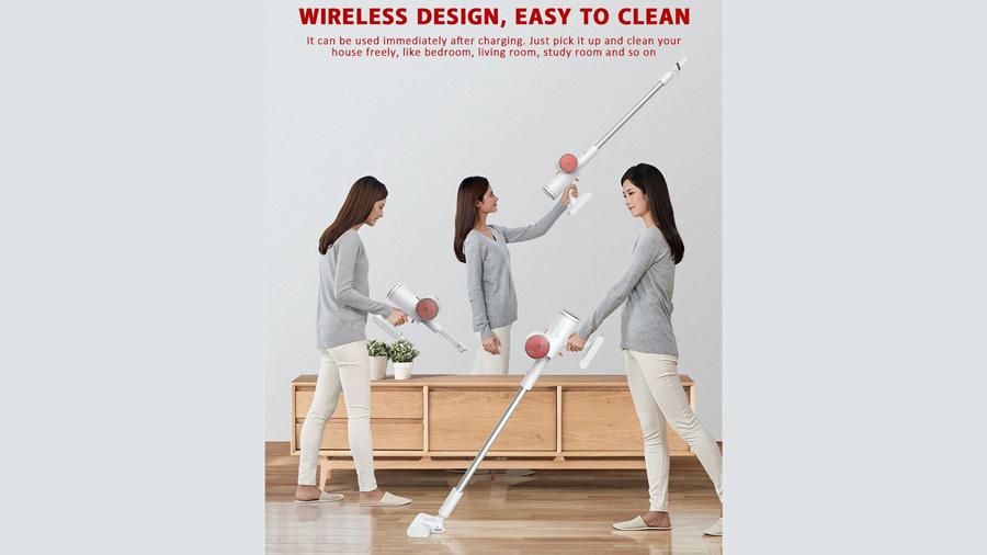 جارو دستی بیسیم دیرما Deerma VC25 Wireless Vacuum Cleaner دارای طراحی بی سیم
