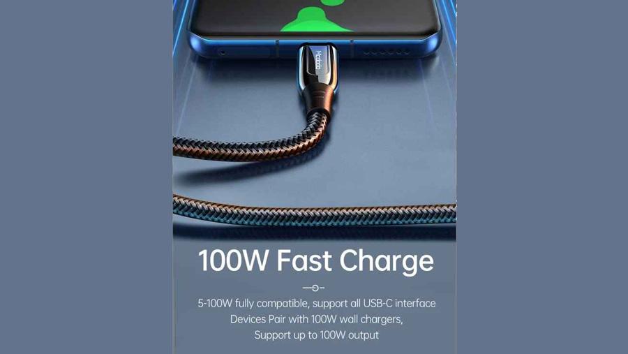کابل شارژ سریع و انتقال داده تایپ سی به تایپ سی مک دودو Mcdodo CA-812 100w Type-C to Type-C 2M توان شارژ 100 واتی