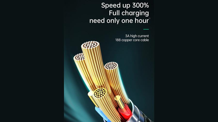 استفاده از هسته های مسی در کابل شارژ سریع و انتقال داده لایتنینگ مک دودو Mcdodo CA-806 Auto Power Off Lightning Data Cable 1.8m
