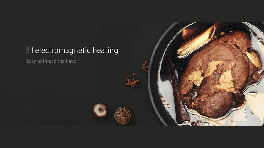 پلوپز برقی هوشمند شیائومی Xiaomi IH 1L Smart Electric Rice Cooker پخت کامل وسریع