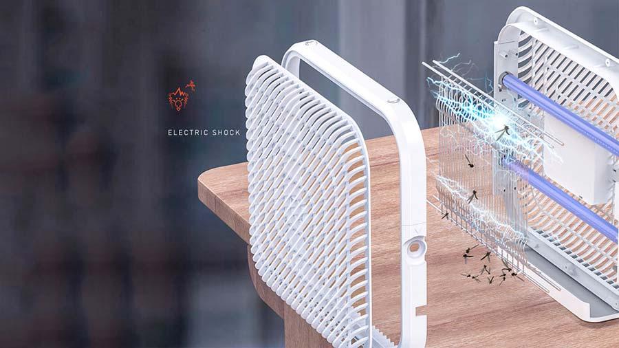 به دام انداختن حشرات با نور فرابنفش و تله برقی حشره کش هوشمند بیسوس