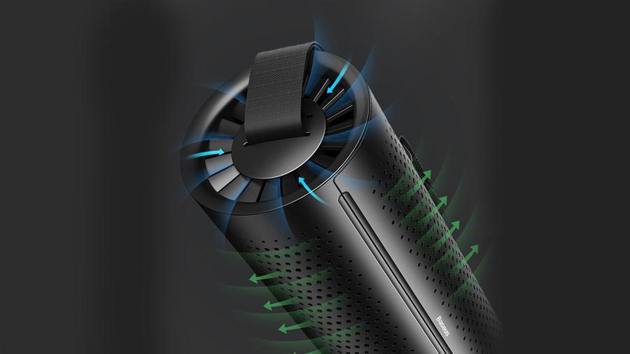 مکش 360 درجه برای تصفیه موثر هوا توسط دستگاه تصفیه هوای بیسوس