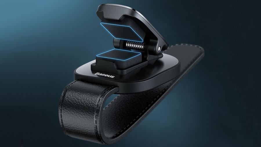 استفاده از پد سیلیکونی در گیره نگهدارنده هولدر عینک بیسوس مدل Baseus Platinum Vehicle Eyewear Clip, Clamping Type