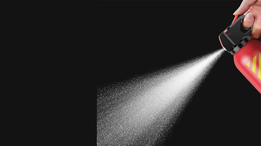 کپسول آتش نشانی مدل بیسوس قابلیت اسپری تا شعاع 2 متر