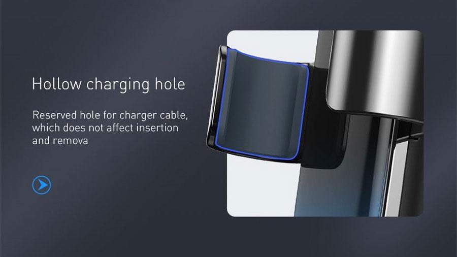 پد های سیلیکونی جداره داخلی گیره ها در هولدر موبایل بیسوس مدل Baseus Glaze Gravity Car Mount