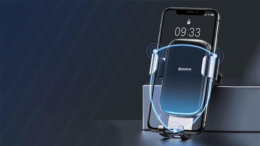 گیره های سه گوشه برای نگهداری محکم هولدر موبایل بیسوس مدل Baseus Glaze Gravity Car Mount