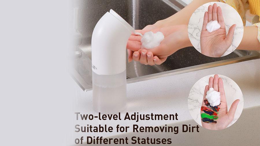 پمپ مایع دستشویی با قابلیت فوم ساز بیسوس Baseus Minipeng Hand Washing machine دارای دو حالت فوم دهی