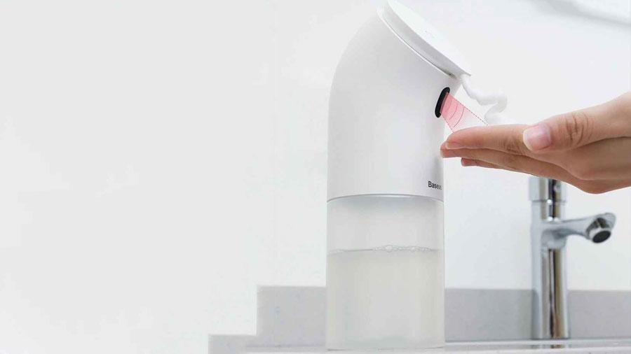 پمپ مایع دستشویی با قابلیت فوم ساز بیسوس Baseus Minipeng Hand Washing machine دارای سنسور تشخیص دست